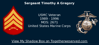 Signature Image of Gregory, Timothy, Sgt