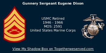 Signature Image of Dixon, Eugene (Gene), GySgt USMC(Ret)