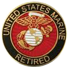 USMC Retired Pin