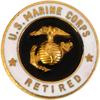 USMC Retired Pin (20 Years)