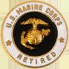 USMC Retired Pin (20 Years)