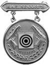 Division Pistol Competition Badge (Silver)